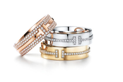 Tiffany T TWO Band Rings ティファニー T TWO リング