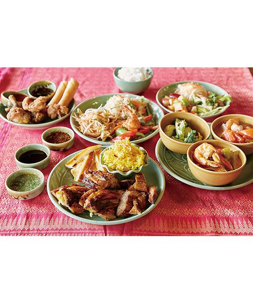 タイ料理とバーベキューのサンデーブランチ