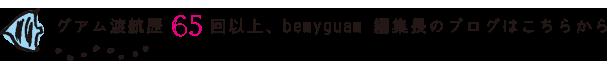 グアム渡航歴65回以上、bemyguam 編集長のブログはこちらから