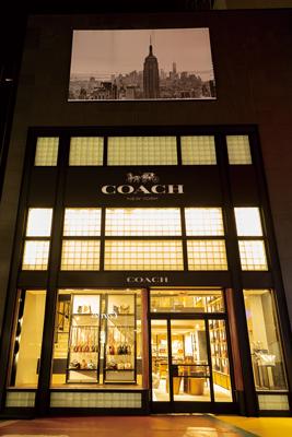 COACH店頭